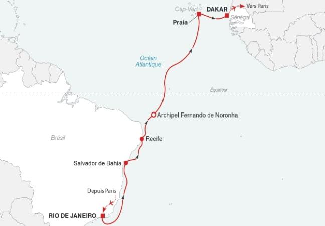 Croisière de Rio de Janeiro à Dakar