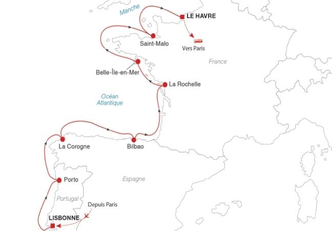 Croisière de Lisbonne au Havre