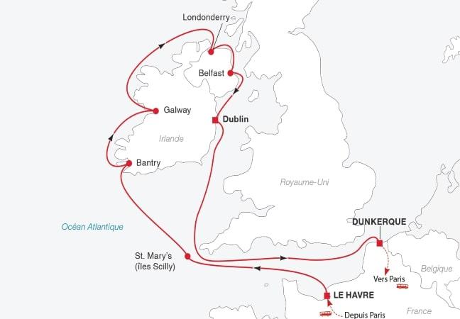 Croisière toute l'Irlande