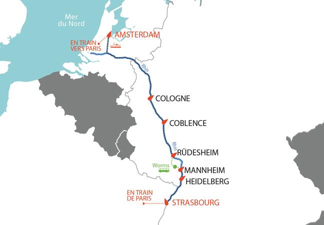 Une sélection PRIONS EN EGLISE & PELERIN : Croisière le Rhin entre Amsterdam et Strasbourg