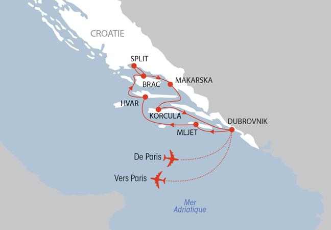 Une sélection NOTRE TEMPS : Croisière en mer Adriatique - Rivages de Croatie