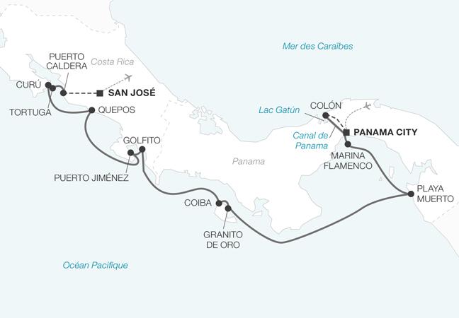 Yachting en Amérique Centrale : Canal de Panama et Costa Rica