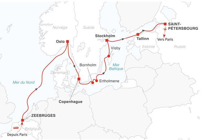 Croisière les capitales scandinaves et Saint-Pétersbourg