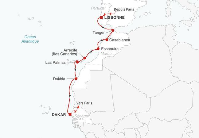 Croisière de Tanger à Dakar