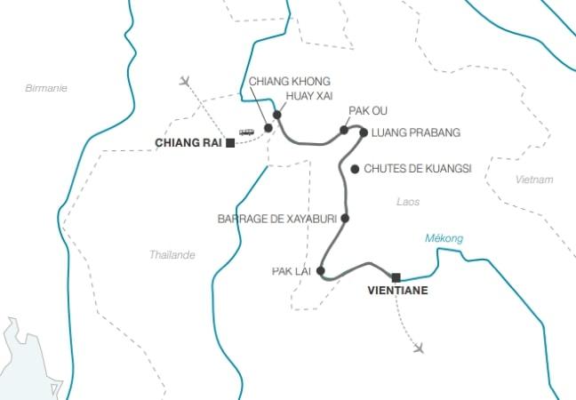 Croisière au Laos, découverte du Triangle d'Or, de Chiang Rai à Vientiane