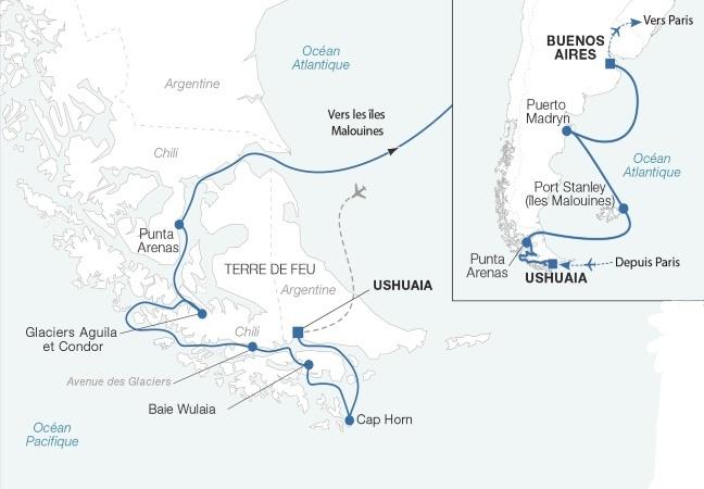 Une sélection NOTRE TEMPS : Croisière Patagonie et Terre de Feu, Chili et Argentine