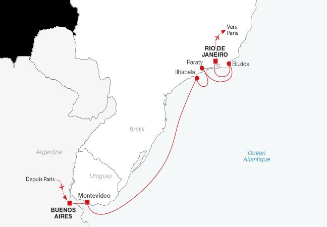 Croisière de Buenos Aires à Rio de Janeiro