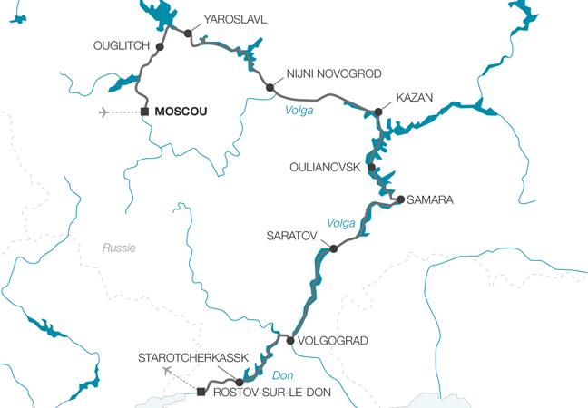 Croisière au fil de la Volga de Moscou à Rostov-sur-le-Don