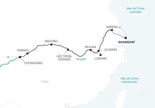 Au fil du Yang Tsé, de Shanghai à Chongqing
