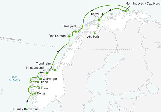 Croisière Fjords, îles Lofoten et cap Nord