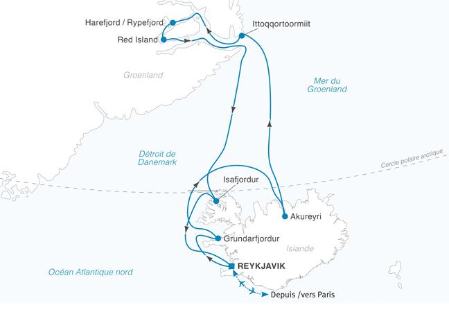 Croisière Islande et côte est du Groenland