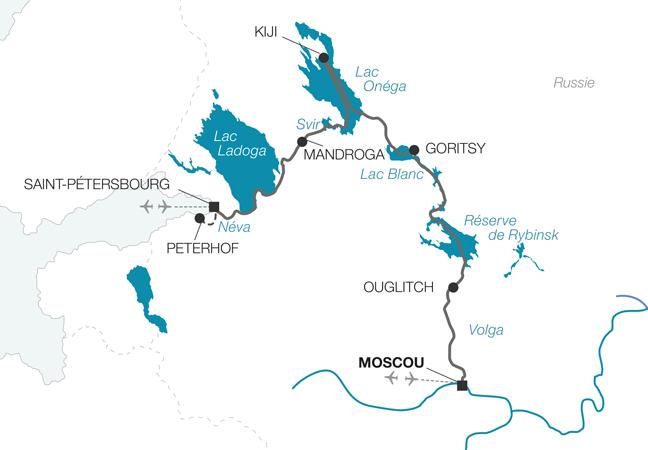 Croisière Joyaux de Russie de Saint-Pétersbourg - Moscou