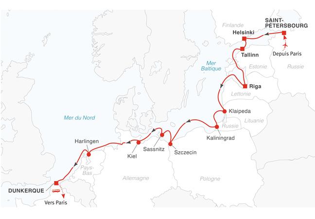 Une sélection LA CROIX : Croisière Saint-Pétersbourg et les capitales baltiques